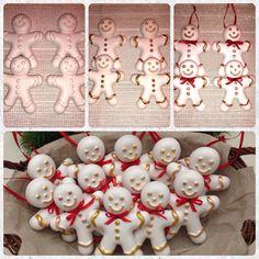 Gingerbread man. Decoriamo l'albero di Natale 2015. Handmade by Angela