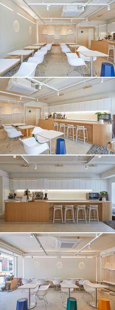 [No.700 카페 아뜰리에] 내추럴 화이트 우드 감성의 갤러리 카페 Natural mood white wood cafe interior White Cafe, White Wood, Woods, Coffee, Studio, Interior, Kaffee, White Washed Wood, Indoor