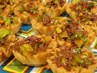 My Easter menu is posted!  These are Pistachio Baklava Tartlets....they have been a hit ever since I first pinned them to Pinterest.
