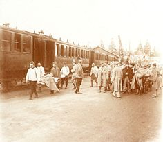 Arrival of a train of wounded (France)