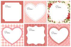 Como hacer nuestras propias etiquetas y postales de San Valentín + Etiquetas imprimibles gratis