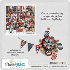 Scrapbooking TammyTags -- TT - Designer - Dream Big Designs, TT - Item - Element, TT - Style - Cluster, TT - Theme - Patriotic or July 4th