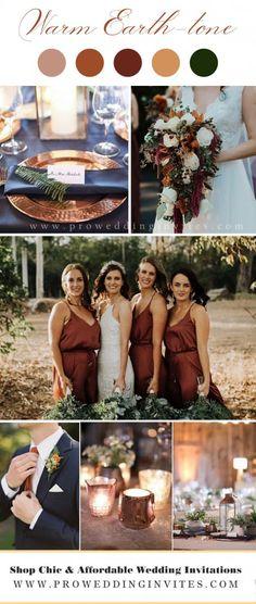 Best Wedding Colors, Winter Wedding Colors, September Wedding Colors, Autumn Wedding, Summer Wedding, Wedding Color Pallet, Wedding Color Schemes, Wedding Color Palettes, Earth Tone Wedding