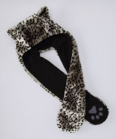 Take a look at this Gray Leopard Faux Fur Critter Scarf by Capelli New York on #zulily today!