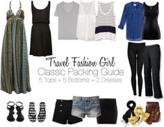Packing List with 12 clothing items - perfect for minimalist travelers going on vacation, extended holidays, and RTW trips!