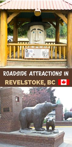 There are a few fun and wacky roadside attractions in Revelstoke, BC. Find out which ones you can visit on your next Revelstoke Bc, Usa Places To Visit, British Columbia, Columbia Travel, Camping Guide, Roadside Attractions, Road Trip Hacks, The Beautiful Country, Family Travel
