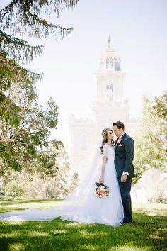 Rachel  & Keith: Manti Temple Wedding Gorgeous dress, made by the grandmother of the bride!!