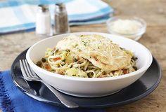 Parmesan Chicken and Artichoke Linguine Recipe