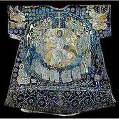 """The so-called """"Dalmatic of Charlemagne"""".  Eleventh century. Gift of the Patriarch of Constantinople, Isidore of Kiev (1439) to Pope Eugene IV (1431-1447)"""