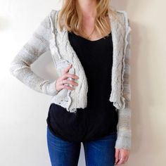 Free People Sweater Cardigan Like new condition! No rips stains or tears. Size small. Adorable sweater cardigan, perfect for Spring! Smoke/pet free home, any questions please ask! Sorry, no trades and no lowball offers! ❌ FIRM PRICE!  Free People Sweaters Cardigans