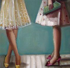 Shoe Talk Number Five by janethillstudio on Etsy