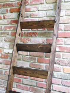 Wood Quilt Ladder with 4 rungs Quilt Storage and by JustKnotWood Quilt Ladder, Blanket Ladder, Quilt Hangers, Quilt Storage, Room Organization, Wood Grain, Ladder Decor, Blankets, Quilting