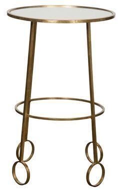 Lura Metal & Mirror Accent Table Retail   $717 Our Price  $249