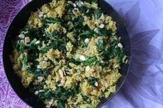 Afrika Gewürz-Reis mit Spinat & Harissa