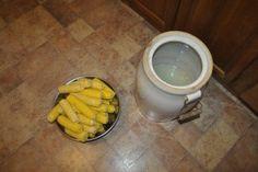 DSC_0463 Pickled Corn, Beans And Cornbread, Tart Taste, Quart Jar, Ears Of Corn, Just Eat It, Big Bowl