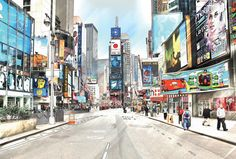 How to make a cityscape image look like an artistic illustration in Photoshop