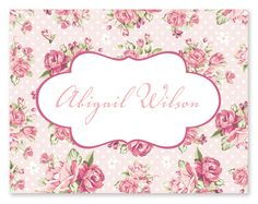 Shabby Chic note card for her