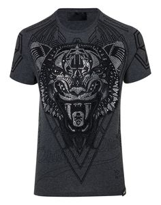"PHILIPP PLEIN T-SHIRT ROUND NECK SS ""PSYCHOLOGICAL"". #philippplein #cloth #"