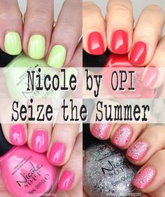 Nicole by OPI Seize the Summer. Summer Nail Polish, Opi Nail Polish, Opi Nails, Manicure, Nicole By Opi, Nail Envy, Blog Love, Beauty Recipe, How To Do Nails