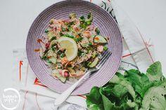 lohi-nuudelisalaatti / Hannan soppa