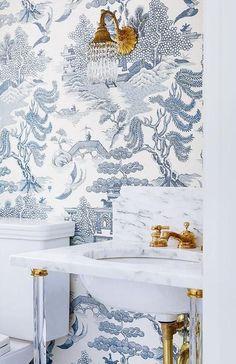 Papel blanco y azul, perfecto para añadir un toque Chic a tu decoración