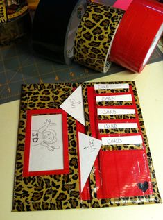 Womens Duct Tape Wallets Cheetah Print Wallet Animal by PjCreates, $25.00