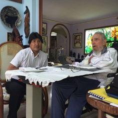 Bolivia's President Evo Morales meets Cuba's former President Fidel Castro (307458)