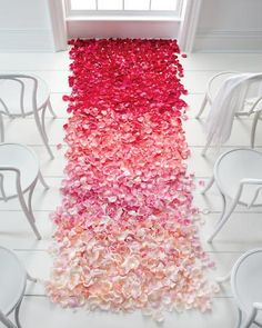Ombre Rose Petal Carpet by marthastewart: Love this! #Weddings #Rose_Petal_Carpet #marthastewart