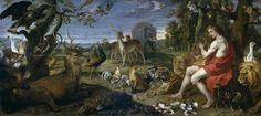 """""""Orfeo y los animales"""", Frans Snyders; Theodoor van Thulden. Óleo sobre lienzo, segundo cuarto del siglo XVII"""