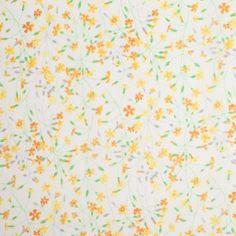 Liberty of London Suria Yellow/Orange Silk-Cotton Voile
