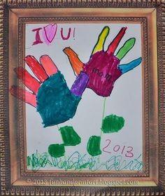 Handprint Flower Mother's Day Drawing - Pinned by @PediaStaff – Please Visit  ht.ly/63sNt for all our pediatric therapy pins