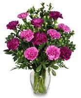PUMP UP THE PURPLE Carnation Bouquet in Huntington Beach, CA | LOVE N BLOOM