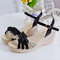 Summer style comfortable fashion novelty Wedges Women sandals for Lady shoes high platform open toe flip flops WA-209