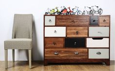 large mismatched vintage chest of drawers by made with love designs ltd | notonthehighstreet.com