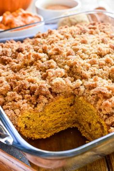Pumpkin Coffee Cake with cinnamon streusel topping is the ultimate taste of fall! This coffee cake is packed with delicious […] Pumpkin Coffee Cakes, Pumpkin Dessert, Pumpkin Bread, Streusel Coffee Cake, Streusel Topping, Coffee Cake Muffins, Fall Desserts, Delicious Desserts, Yummy Food