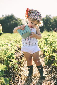 girl picking strawberries - so cute!