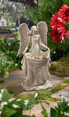 Grasslands Road Angel Bird Feeder, Gift Boxed (Discontinued by Manufacturer) Angel Decor, Angel Art, Angel Sculpture, I Believe In Angels, Garden Angels, Angel Pictures, Garden Statues, Garden Ornaments, Yard Art