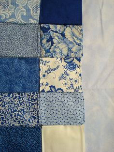 blue and white fabric fat quarters on etsy