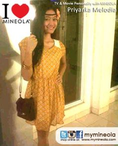 #myMINEOLA with TV & Movie Personality Priyanka Melodia menggunakan dress cantik koleksi MINEOLA untuk mensupport penampilannya dalam sinetron. Kamu?  Dress yang dikenakan Priyanka Melodia dapat dilihat di: http://www.facebook.com/photo.php?fbid=10151041130809046=a.10151041127514046.544499.98906349045=3