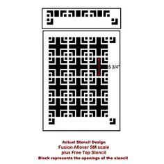 Geometric Stencil Fusion SM scale Reusable by CuttingEdgeStencils