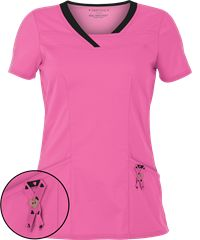 HeartSoul Scrubs Pink With a Purpose Serenity V-Neck Top WANT #LoveHeartSoulScrubs