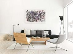 like the use of minimalist painting on the wall?