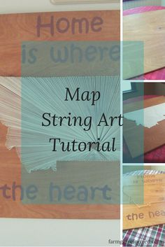 map string art tutorial-you only need a few supplies to make this great string…