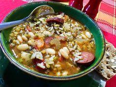 ~  Lentil, Rice & Bean Stewp W/ Andouille Recipe