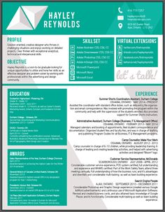 "Love the box look and color choice of the resume by Hayley Reynolds, via Behance.For more great resume ideas search Aaron Sheppard and look at my ""? - Design - Resumes"" board. Creative Resume Design, Resume Style, Resume Design, Curriculum Vitae, CV, Resume Template, Resumes, Resume Format."
