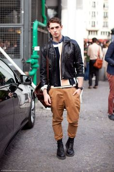 adore the carrot pants and leather jacket
