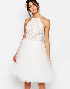 Jarlo Edie Tulle Lace Halter Dress