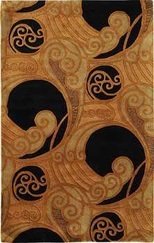 Tomoye Bst498 Rich And Elegant Art Nouveau Or Deco Rug Quite