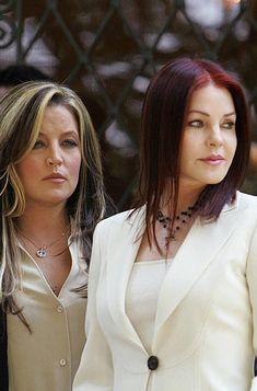 Priscilla and Lisa Marie at Graceland
