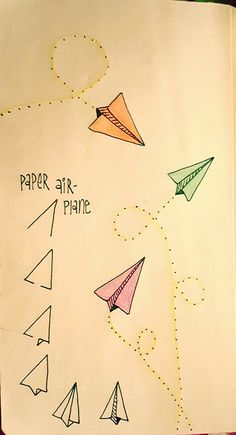 Paper airplanes are fun to draw | Linda Rea | Flickr